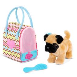 Mops - Hund i zig zag taske - Pucci Pups