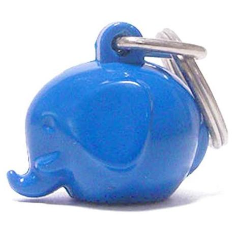Lyseblå elefant nøglering - Norsu