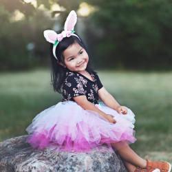 Pink tylskørt med kaninører - Udklædning (3-4 år) - Great Pretenders