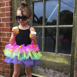 Pompom tylskørt - Udklædning (4-6 år) - Great Pretenders