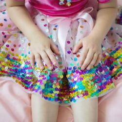 Tylskørt med regnbue pailletter - Udklædning (4-6 år) - Great Pretenders