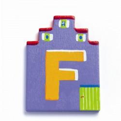Djeco træbogstaver Hus - F