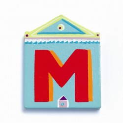 Djeco træbogstaver Hus - M