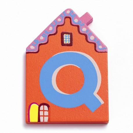 Djeco træbogstaver Hus - Q