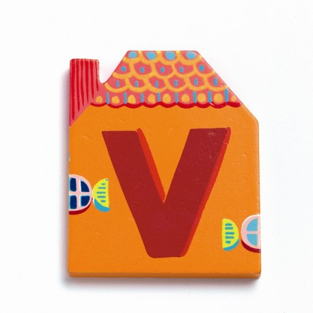 Djeco træbogstaver Hus - V