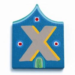 Djeco træbogstaver Hus - X