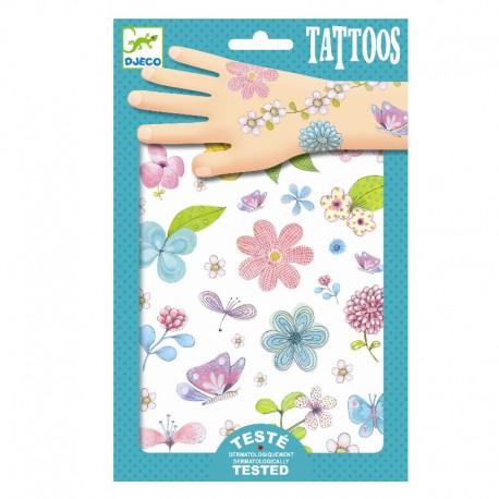 Smukke blomster tatoveringer - Djeco