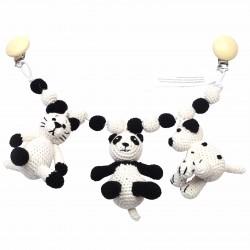 Kat - Panda - Hund - Barnevognsophæng - NatureZOO