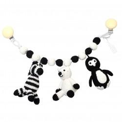 Zebra - Isbjørn - Pingvin - Barnevognsophæng - NatureZOO