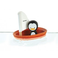 Plantoy badelegetøj - Pingvin i båd