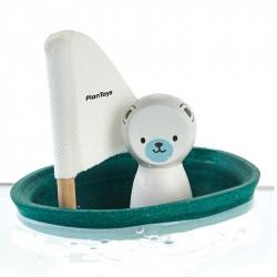 Isbjørn i båd - Badelegetøj - Plantoys