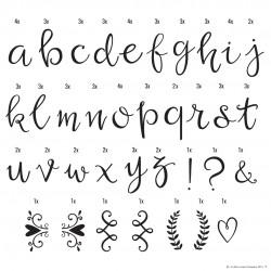 Lightbox tilbehør - Små bogstaver