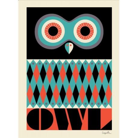 Ingela P. Arrhenius plakat - Owl