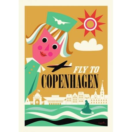 Fly to Copenhagen plakat - Ingela P. Arrhenius
