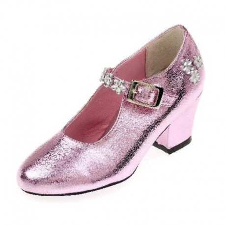 Madeleine prinsessesko - Pink metallic
