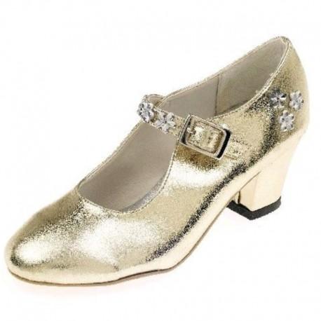 Sabine prinsessesko - Guld metallic
