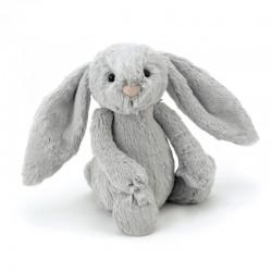 Jellycat Bashful bamse - Sølv kanin - Mellem