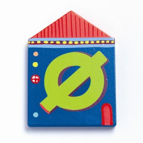 Djeco træbogstaver Hus - Ø