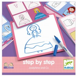 Djeco step by step tegneleg - Joséphine og Co