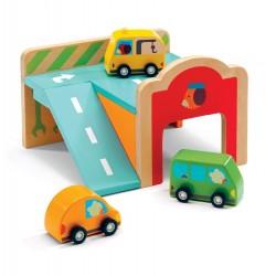 Djeco trælegetøj - Den lille garage