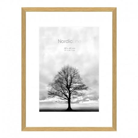 1 stk. ramme - 50 x 70 cm. - Egetræ - Slim Oak