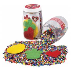 9000 perler med 3 plader - 13 farver - Hama (2084)