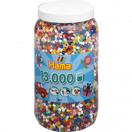 Hama perler - 10 farver - 13000 stk. (211)