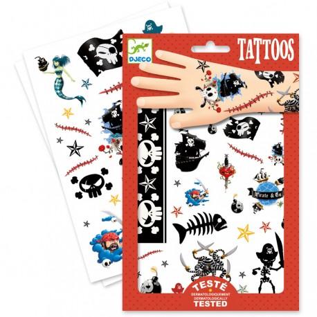 Djeco tatoveringer - Pirater