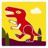 Djeco tegneskabeloner - Dinosaur - 4-7 år.