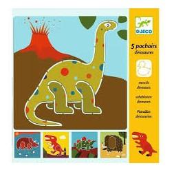 Dinosaur tegneskabeloner (4-7 år) - Djeco