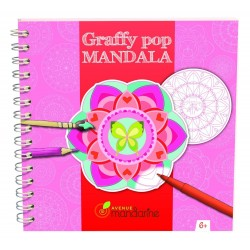 Mandala Blomster Malebog - Graffy Pop