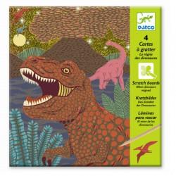 Skrabebilleder - Dinosaurernes rige - Djeco kreativt sæt