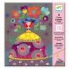 Scratch kort Kjoler - Djeco kreativt sæt