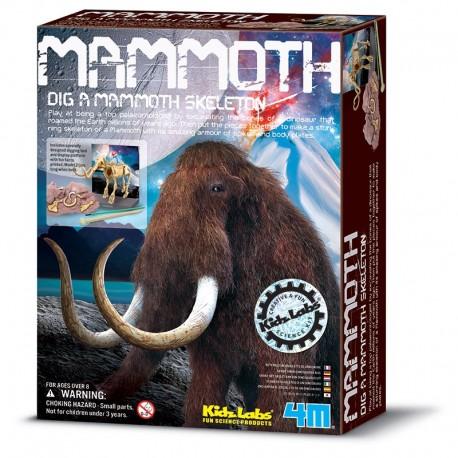 Udgravningssæt - Mammut skelet - KidzLabs