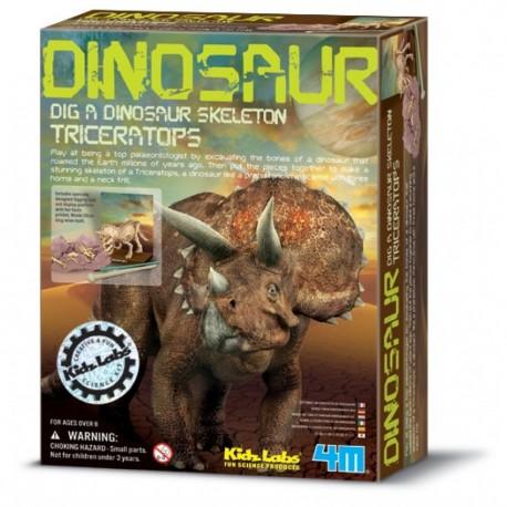 Triceratops skelet - Udgravningssæt - KidzLabs