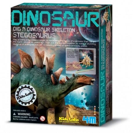 Udgravningssæt - Stegosaurus dinosaur - KidZLabs