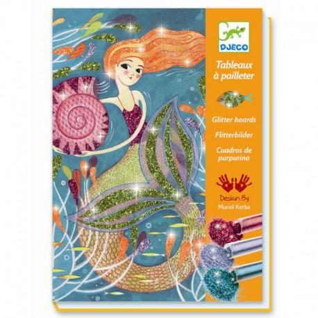 Kreativ æske - Glitterkort - Havfruer