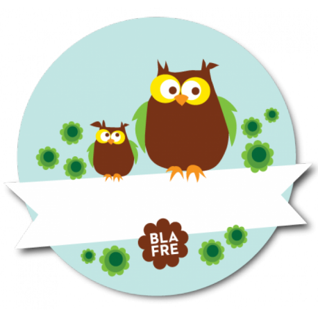Lyseblå Ugler - Blafre navnemærke