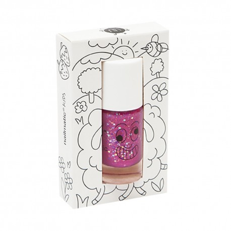 Rasberry Glitters neglelak - Sheepy - Nailmatic Kids