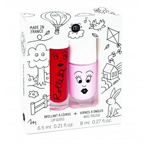 Kid Cottage Neglelak & Lip Gloss - Nailmatic Kids gaveæske