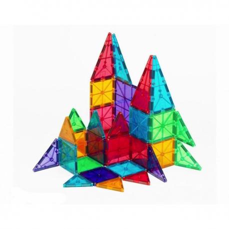 Byggemagneter 32 stk. i klare farver - Magna-Tiles