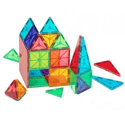 Byggemagneter 100 stk. i klare farver - Magna-Tiles
