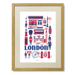 Ingela P. Arrhenius plakat - London - Limited Edition plakat