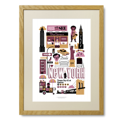 New York - Limited Edition plakat - Ingela P. Arrhenius