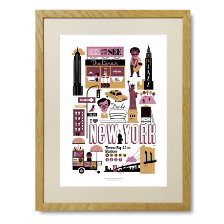 Ingela P. Arrhenius plakat - New York - Limited Edition plakat