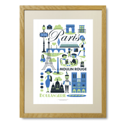 Paris - Limited Edition plakat - Ingela P. Arrhenius