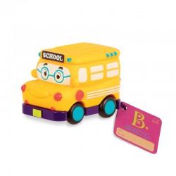 Gul skolebus - Træk tilbage bil - B. Toys mini whee-Is!