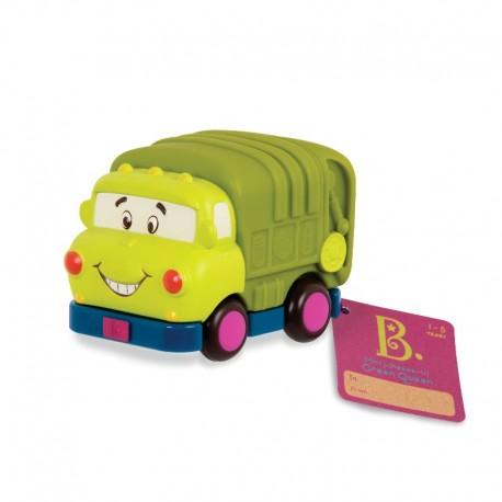 Grøn skraldebil - Træk tilbage bil - B. Toys mini whee-is!