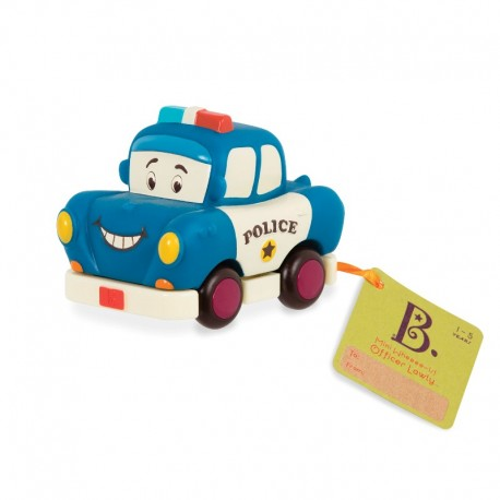 Blå politibil - Træk tilbage bil - B. Toys mini whee-is!