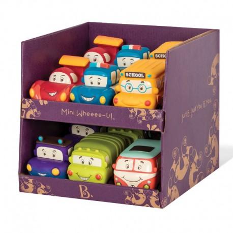 Orange folkevognsrugbrød - Træk tilbage bil - B. Toys mini whee-is